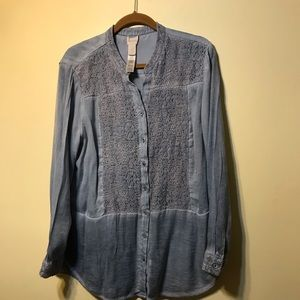 Chico's size 3 long sleeve top